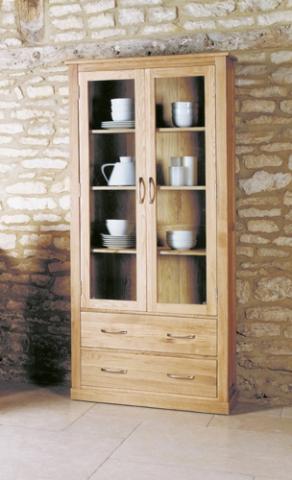 Mobel Oak Glazed Display Cabinet