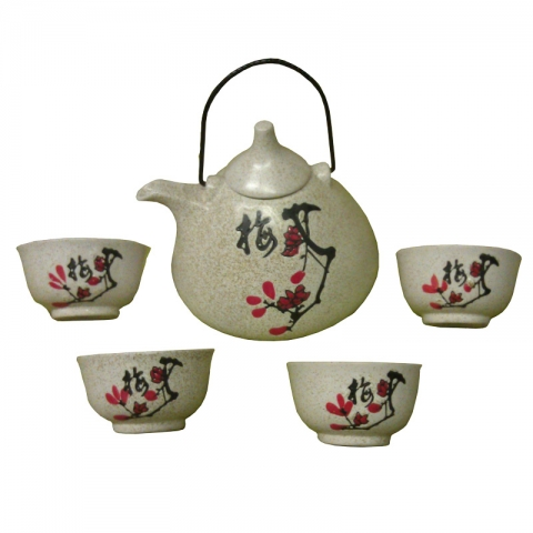 Chinese Speckled Plum Teaset