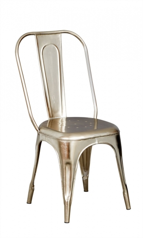 Cosmo Silver Metal Chair