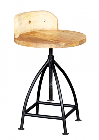 Cosmo Industrial Wood Chair