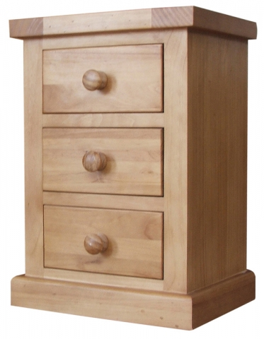 Chunky Pine Bedside Cabinet
