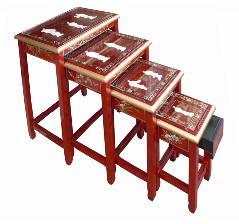 Chinese Red Lacquer Tables