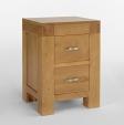 Santana Oak Bedside Cabinet