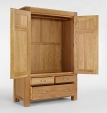 Santana Oak Double Wardrobe
