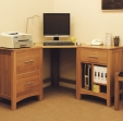 Hereford Oak Corner Desk Wide