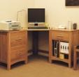 Hereford Oak Corner Desk Wide