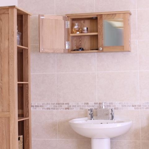 Mobel Oak Bathroom Cabinet