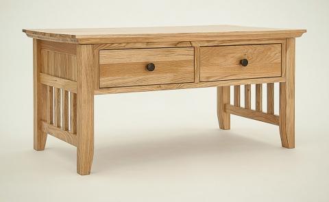 Hereford Rustic Oak Coffee Table