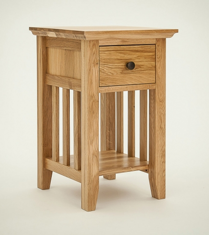 Hereford Rustic Oak Bedside