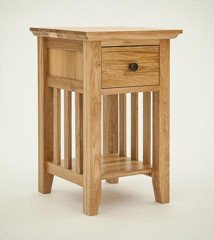 Hereford Rustic Oak Bedside