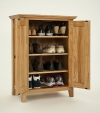 Hereford Rustic Oak Shoe Cabinet