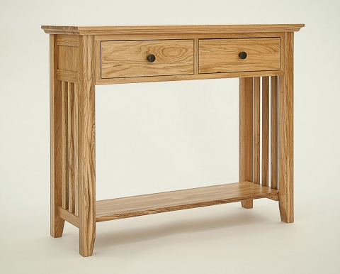 Hereford Rustic Oak Hall Table