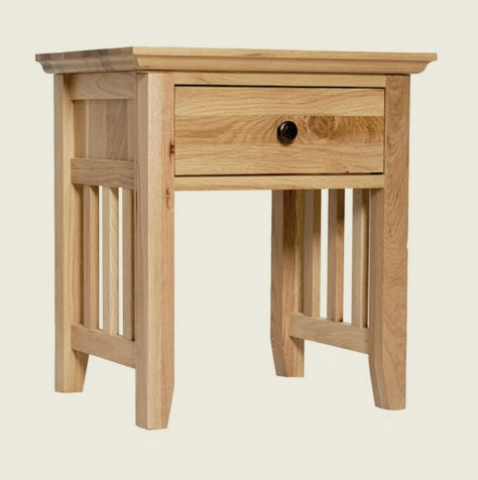 Hereford Rustic Oak Lamp Table