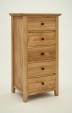 Hereford Rustic Oak Slim Chest