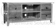 Hereford Rustic Oak Wide TV Unit