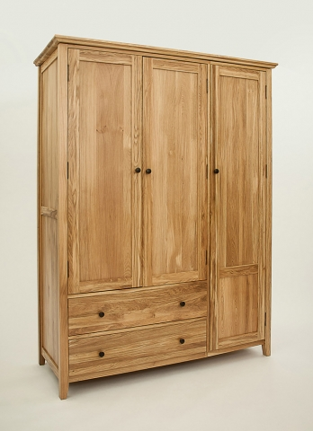 Hereford Rustic Oak Wardrobe