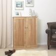 Mobel Oak Shoe Cupboard Large
