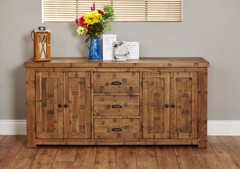 Heyford Oak Large Sideboard