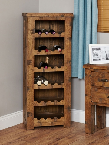 Heyford Oak Tallboy Wine Rack