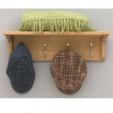 Mobel Oak Coat Shelf