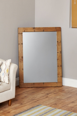 Heyford Oak Chunky Wall Mirror