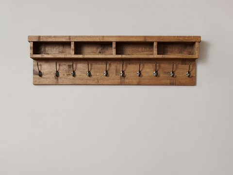 Heyford Oak Wall Coat Rack