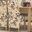 Mobel Oak Upholstered Chair