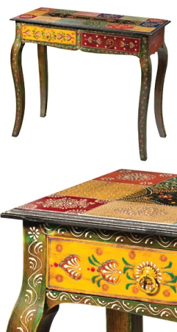Indian Painted Console Table
