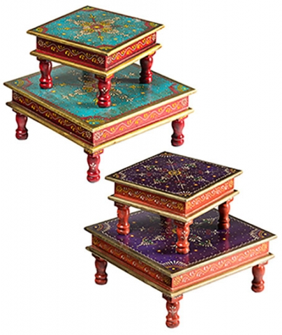 Indian Painted Bajot Tables