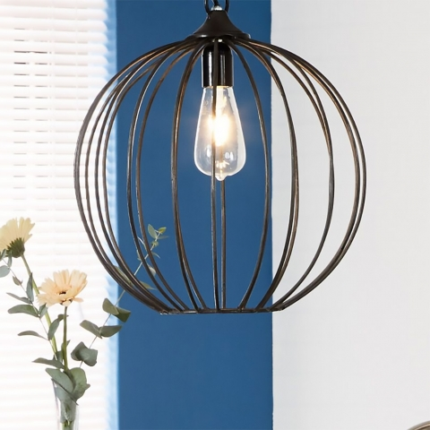 Iron Sphere Cage Lamp