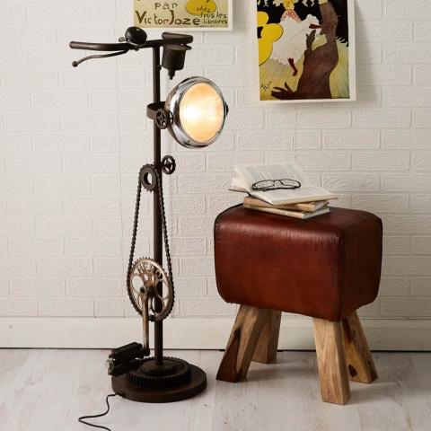 Iron Cycle Floor Lamp