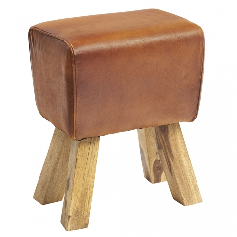 Turn Leather Stool