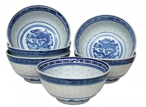 Set of 6 Rice Bowls