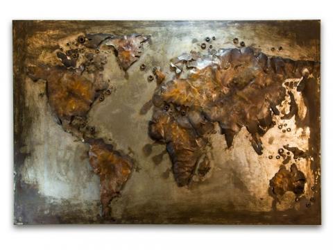 Welded World Metal Wall Art
