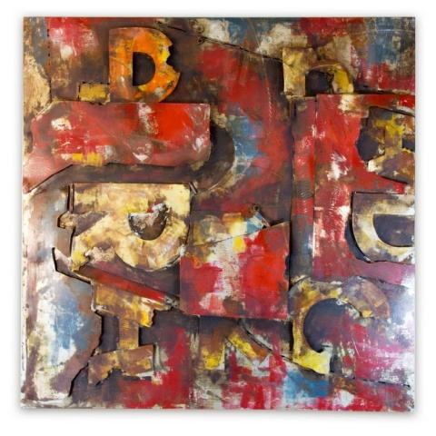 Font Abstract Metal Wall Art