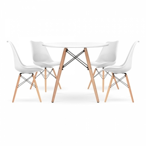 Eames Soft Pad Dining Set