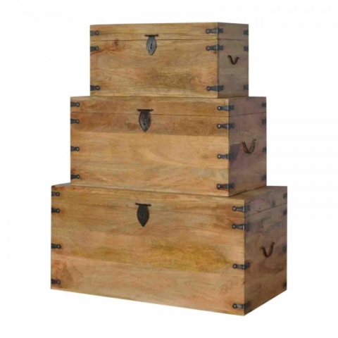 Country Thackat Set of 3 Trunks