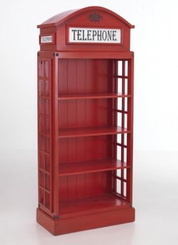British Red Telephone Bookcase
