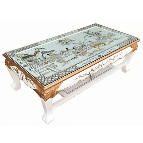 Chinese White Coffee Table