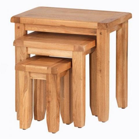 Cherbourg Oak Nest Tables