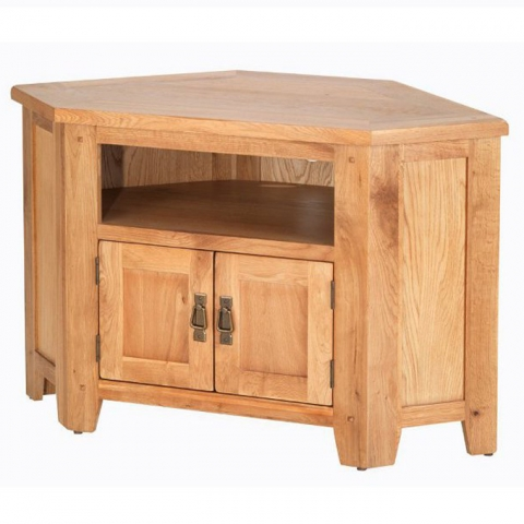 Cherbourg Oak Corner TV Unit