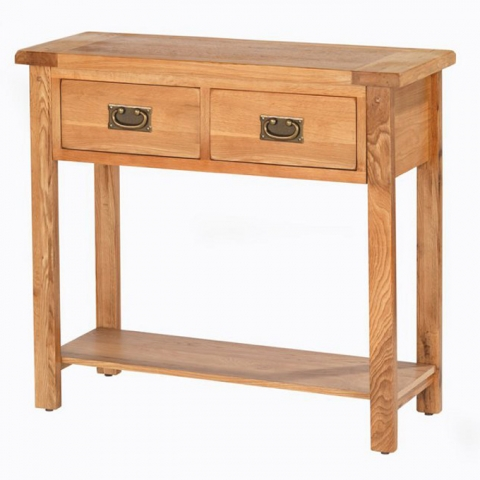 Cherbourg Oak Console Table