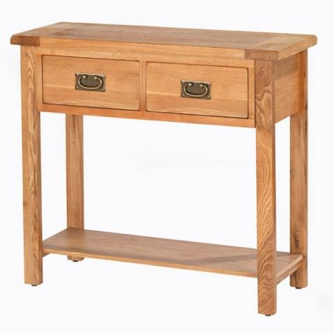 Cherbourg Oak Console Table