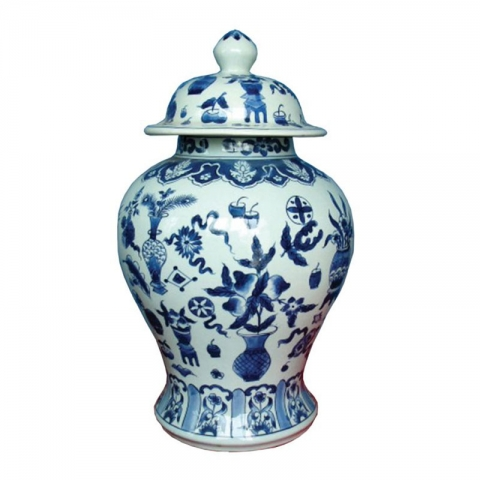 Chinese Floral Jar Large
