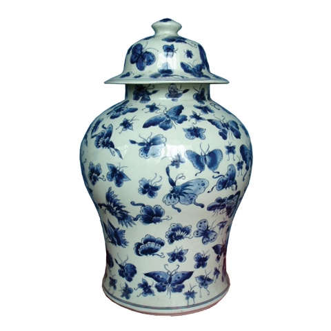 Chinese Butterfly Jar Large