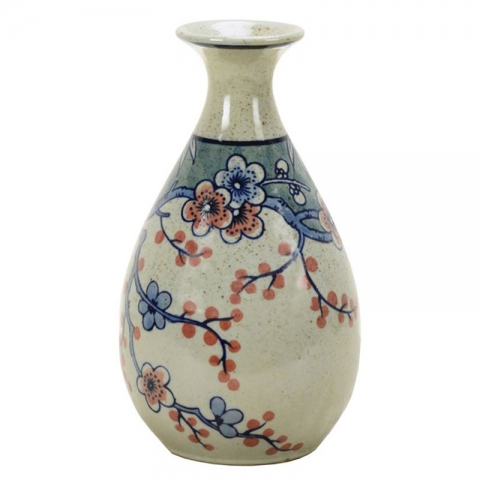 Chinese Vase in blue and ivory