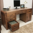 Shiro Walnut Computer Desk