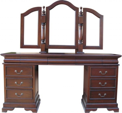 Mahogany Dressing Table Large