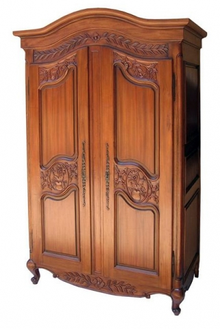 Mahogany Arch Topped Armoire
