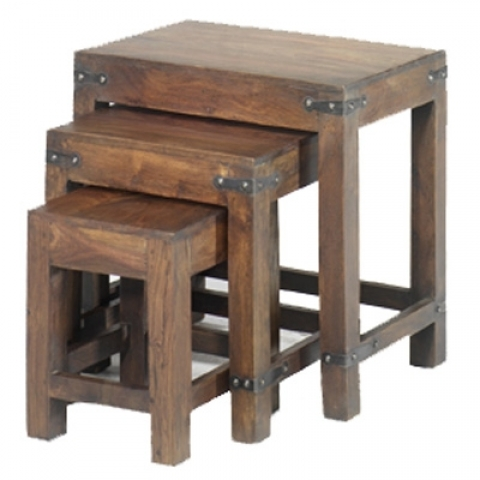 Jali Nest of 3 Tables Chunky